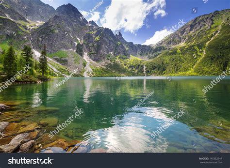 Eye Of The Sea eye sea lake tatra mountains poland stock photo 145352947