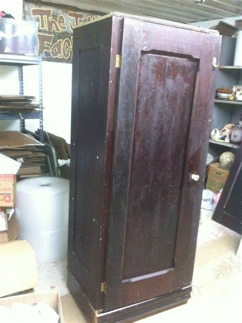 Antique Armoires Wardrobes - vintage wood wooden storage armoire kitchen broom closet