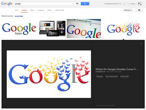 google layout online new google image search layout clicky media
