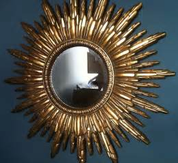 antique gold sunburst mirror by the forest co
