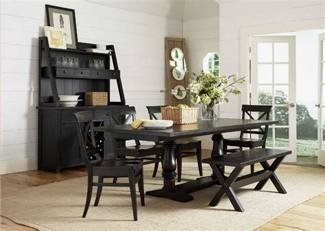 Babcock Furniture Dining Room Sets by Walnut Wood Flat Eased Dining Tanle With Wooden Armless