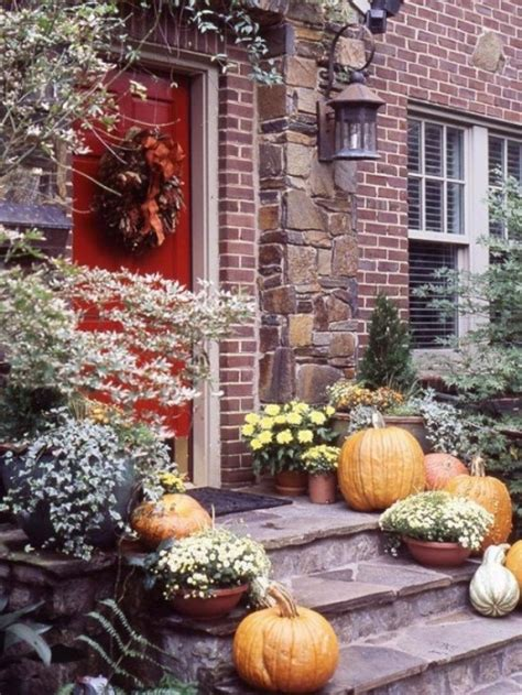 diy fall spruce up of your front door with color diy 70 cute and cozy fall and halloween porch d 233 cor ideas