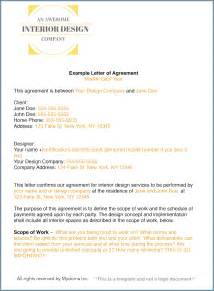 Letter Of Agreement Contract Template How To Write An Interior Design Letter Of Agreement