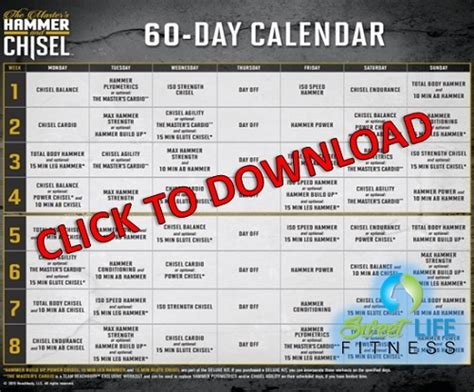 60 Day Calendar Insanity Workout Schedule Free Insanity Workout Pdf