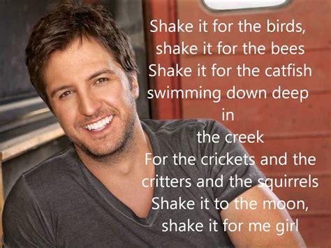 country girl shake it for me luke bryan lyrics youtube luke bryan country girl shake it for me lyrics youtube
