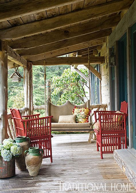 log cabin porch dreams decor pinterest carolina cabin designed by charles faudree traditional home