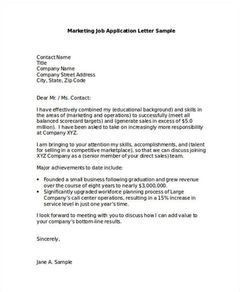 application letter for unadvertised sle 28 images sles of application letters for employment