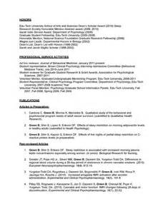psychology resume templates exles of clinical psychology cv application letter