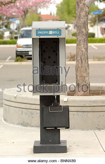 Pacific Bell Phone Lookup Pacific Bell Phone Booth With The Phone Removed Stock Photo Picture And Royalty Free