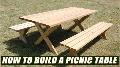 build  picnic table bench youtube