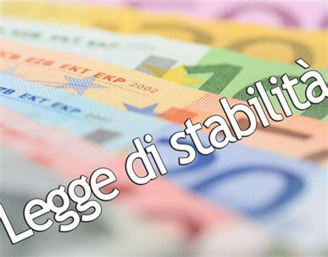 legge di stabilità testo bollettino sindacale n 11 26 novembre 2015