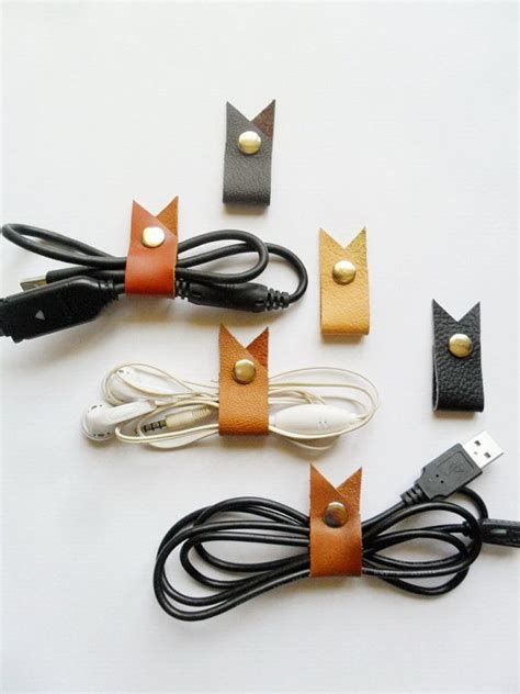 Earphone Cable Organizer 25 best ideas about leather accessories on