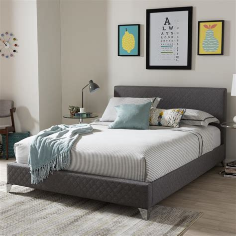 colorful headboards baxton studio harlow gray queen upholstered bed 28862 7114