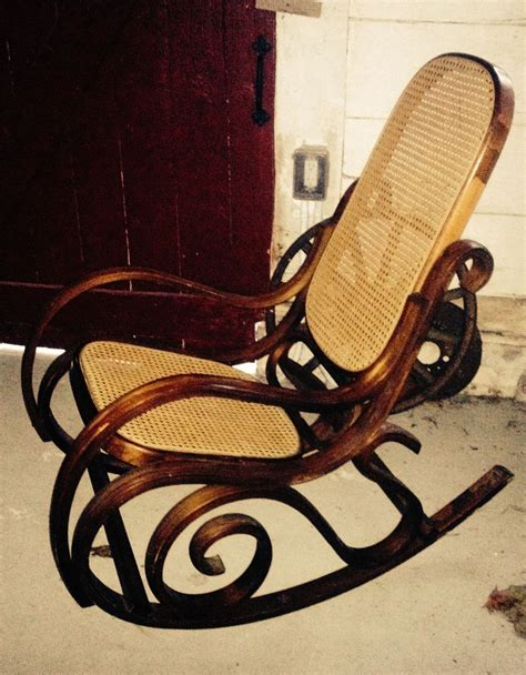 vintage mid century thonet style bentwood rocker back bentwood rocking chair mid century modern wood circles