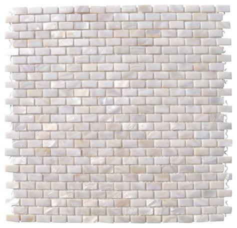 pattern tile sheets mini brick oyster white pearl tile pattern sheet