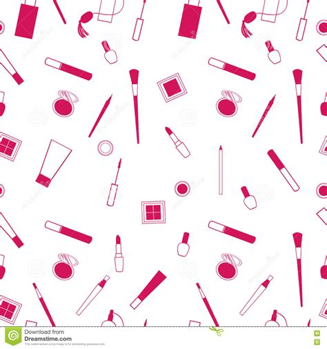 vector pattern maker beauty and care cosmetics red and white vector seamless