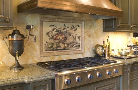 kitchen tile backsplash beautiful backsplash murals make your kitchen look