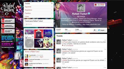 imagenes para perfil en twitter nuevo dise 241 o para nuestro perfil de twitter 171 luces y