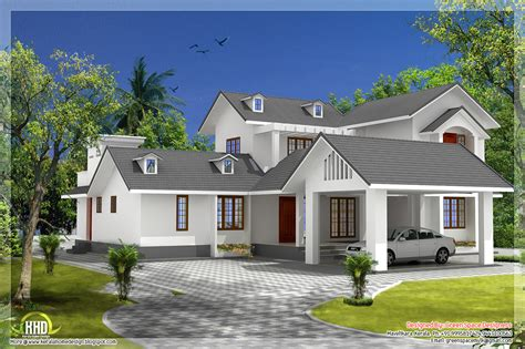 5 Bedroom House With Gable Roof Type Design Kerala Home Design And Floor Plans