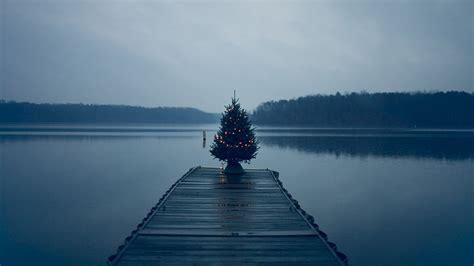 christmas tree pier lake wallpapers hd desktop and