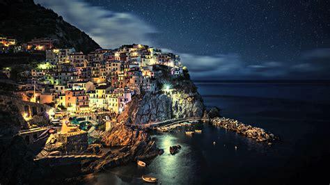 Coast Lights by Villages Cinque Terre Coast City Lights Houses