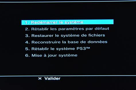 reset ps3 video mode ps3 le mode recovery