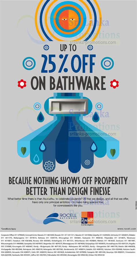 list  rocell bathware related sales deals promotions news jan  sri lanka promotions