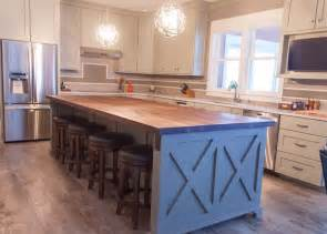 stainless steel kitchen island with butcher block top wood kitchen island butcher blocks and farmhouse chic on pinterest