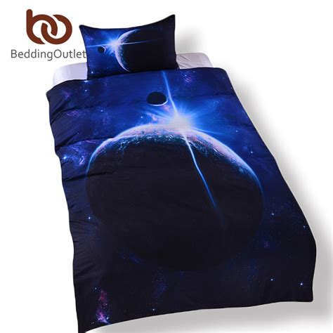 galaxy bed set queen beddingoutlet galaxy bedding set queen size 3d earth moon