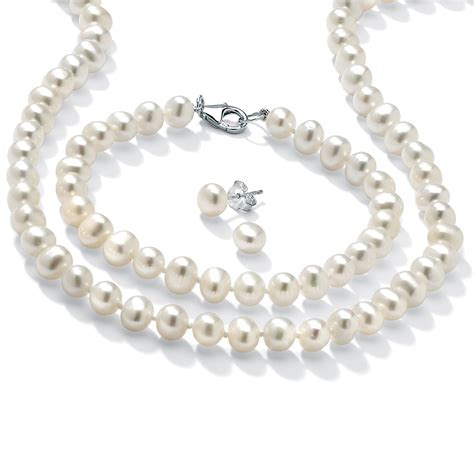 palmbeach jewelry freshwater pearl silver necklace