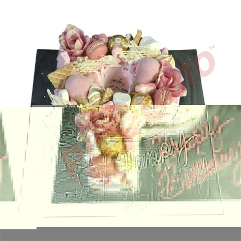 letter cake p pink cluster naked baby pink cream pure