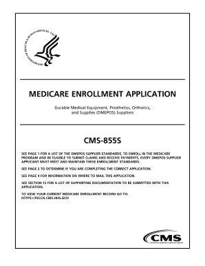 medicare enrollment application cms 855i forms and