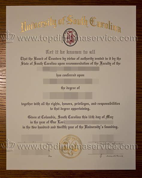 Of South Carolina Professional Mba Diploma by Buy Of South Carolina Degree Buy A Usc Diploma