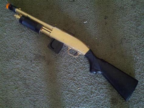 call of duty 4 gold shotgun golden spas 12 airsoft call of duty mw3 by assassannerr on