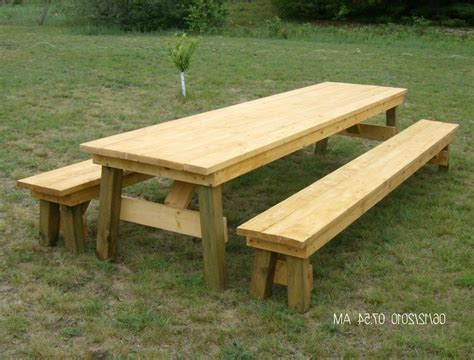 teak picnic table with detached benches furniture picnic table with backs best of classic