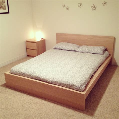 malm bed ikea malm bed with side dresser for the home pinterest