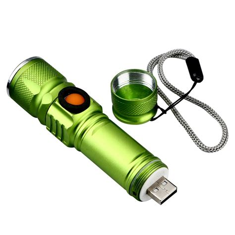 cree q5 2000lm usb rechargeable ultra bright tactical led flashlight torch l ebay