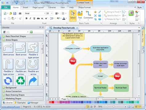 flowchart diagram software free process flowchart draw process flow diagrams by starting