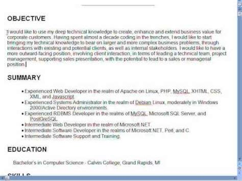good resume objective statement examples resume objective