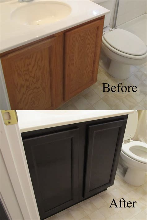 staining bathroom cabinets staining the easy way with professional results