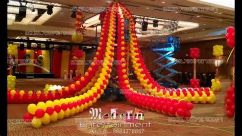 world class balloon decoration  chennai akhil