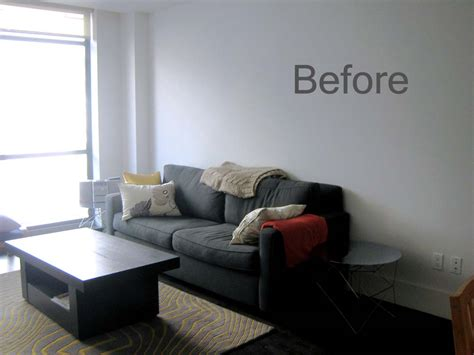 decorating with gray walls korin s updated living room before and after just about