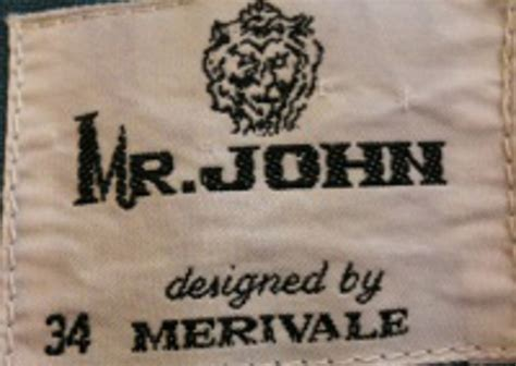 label hom mr john 70s | circa vintage clothing