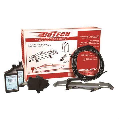 add hydraulic steering boat uflex usa gotech 1 0 hydraulic steering kit outboards up
