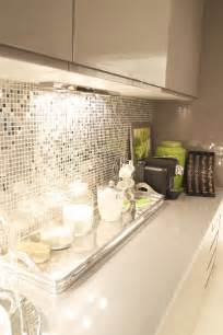elegant kitchen backsplash cream and gray kitchen with reflective backsplash this is