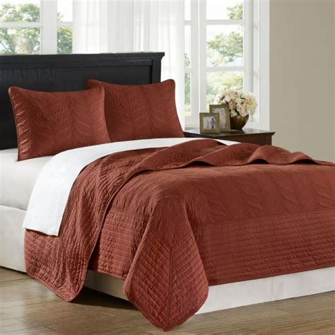 rust bedding hton hill opulence rust queen 3pcs coverlet set jla13 012