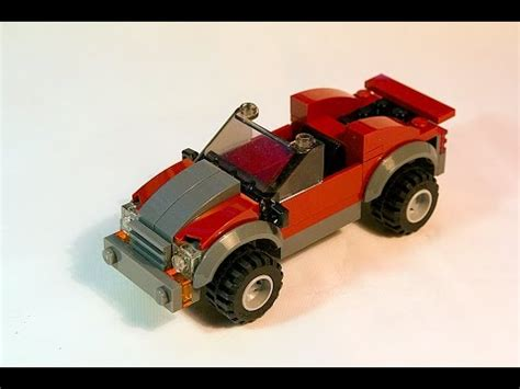 tutorial lego 4x4 red jeep lego tutorial how to build simple 4x4 sports car youtube