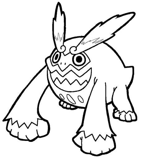 pokemon coloring pages sandile hihidaruma lineart by yumezaka on deviantart