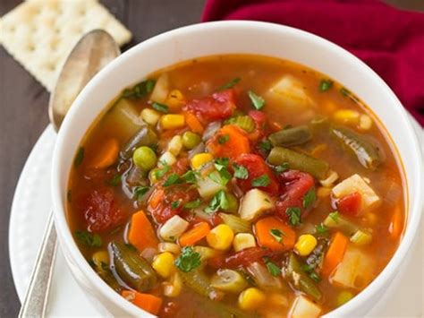 Calories In Homemade Vegetable Soup No Meat Calories In Garden Vegetable Soup