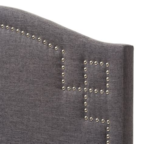dark grey tufted headboard baxton studio aubrey modern and contemporary dark grey